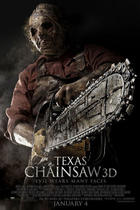 "Poster art for ""The Texas Chainsaw Massacre 3D."""