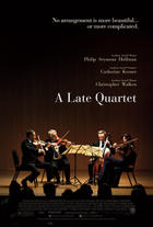 "Poster art for ""A Late Quartet."""