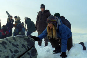 "Tim Blake Nelson and Drew Barrymore as Rachel Kramer in ""Big Miracle.''"