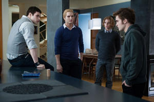 "Kellan Lutz, Peter Facinelli, Jackson Rathbone and Robert Pattinson in ""The Twilight Saga: Eclipse."""