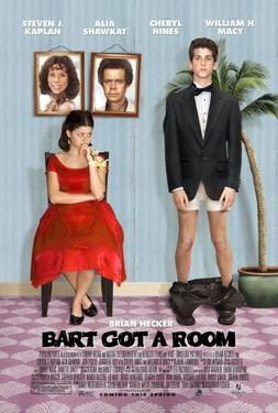 "Poster Art for ""Bart Got a Room."""
