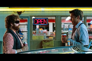 "Robert Downey Jr. and Zach Galifianakis in ""Due Date"""