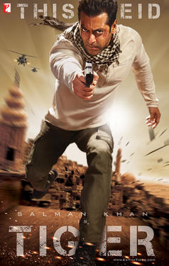 "Poster art for ""Ek Tha Tiger."""