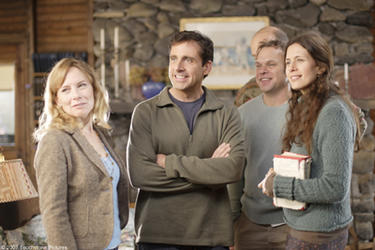 "Amy Ryan, Steve Carell, Norbert Leo Butz and Jessica Hecht in ""Dan in Real Life."""