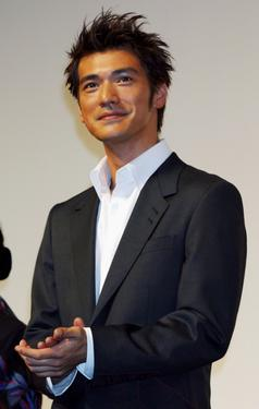 "Takeshi Kaneshiro at the Japan premiere of ""Lovers."""