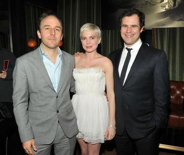 "Derek Cianfrance, Michelle Williams and Alex Orlovsky at the screening of ""Blue Valentine."""