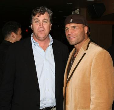 "Tom Bernard and Randy Couture at a private party hosted by David Mamet for ""Redbelt."""