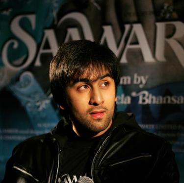 "Ranbir Kapoor at the press conference of ""Saawariya."""