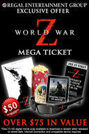 Poster for World War Z 3D Mega Ticket