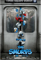 "Poster art for ""Smurfs."""