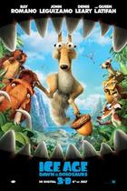"Poster art for ""Ice Age: Dawn of the Dinosaurs 3D."""