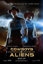"Poster art for ""Cowboys & Aliens."""
