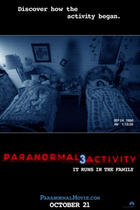 "Poster art for ""Paranormal Activity 3."""