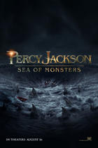 "Teaser poster for ""Percy Jackson: Sea of Monsters."""