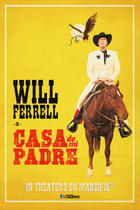 "Poster art for ""Casa De Mi Padre."""