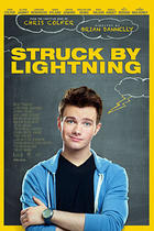 "Poster art for ""Struck by Lightning."""