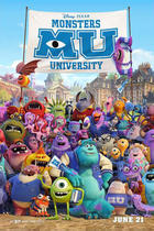 "Poster art for ""Monsters University 3D."""