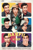 "Poster art for ""Barfi!."""