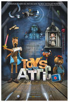 "Poster art for ""Toys in the Attic."""