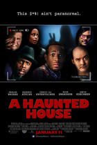 "Poster art for ""A Haunted House."""