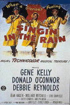 "Poster art for ""Singin' in the Rain."""