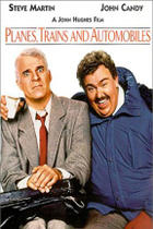 "Poster art for ""Planes, Trains and Automobiles."""