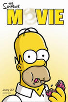"Poster art for ""The Simpsons Movie."""