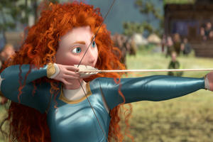 Princess Merida in ``Brave.''