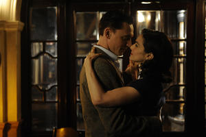 Tom Hiddleston as Freddie Page and Rachel Weisz as Hester Collyer in ``The Deep Blue Sea.''