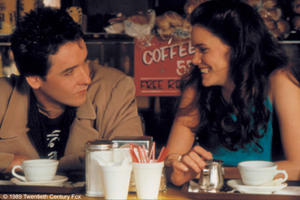 "John Cusack and Ione Skye in ""Say Anything."""