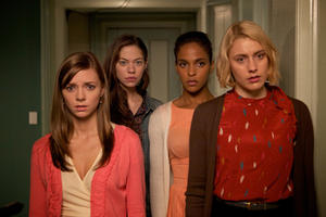 Carrie MacLemore as Heather, Analeigh Tipton as Lily, Megalyn Echikunwoke as Rose and Greta Gerwig as Violet in ``Damsels in Distress.''