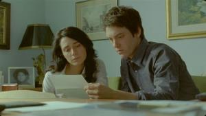 "Melissa Desormeaux-Poulin as Jeanne and Maxim Gaudette as Simon in ""Incendies."""