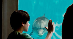 "Nathan Gamble as Sawyer Nelson in ""Dolphin Tale."""