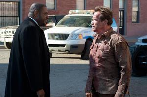 "Forest Whitaker as Agent John Bannister and Arnold Schwarzenegger as Ray Owens in ""The Last Stand."""