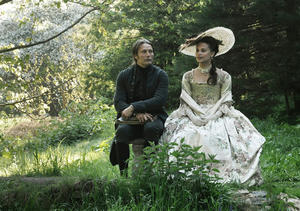 "Mads Mikkelsen and Alicia Vikander in ""A Royal Affair."""