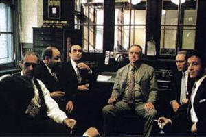 A scene from the film ``The Godfather''