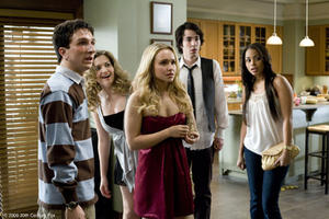 "Paul Rust as Denis, Lauren Storm as Treece, Hayden Panettiere as Beth, Jack T. Carpenter as Rich and Lauren London as Cammy in ""I Love You Beth Cooper."""