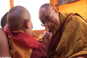"The Dalai Lama in ""Unmistaken Child."""