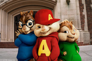 "Simon, Alvin and Theodore in ""Alvin and the Chipmunks: The Squeakquel."""