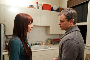 "Bryce Dallas Howard as Melanie and Matt Damon as George in ""Hereafter."""