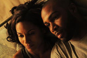 Salli Richardson-Whitfield as Maye and Omari Hardwick as Troy in ``I Will Follow.''