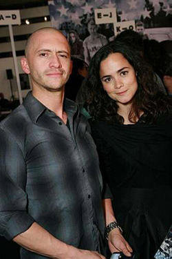 "Clifton Collins Jr. and Alice Braga at the L.A. premiere of ""Stop-Loss."""