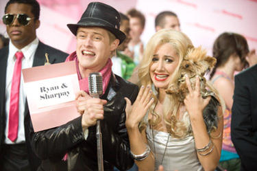 "Lucas Grabeel and Ashley Tisdale in ""High School Musical 3: Senior Year."""