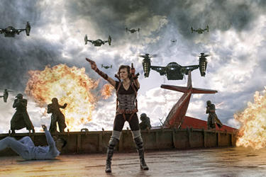 Milla Jovovich as Alice in ``Resident Evil: Retribution.''