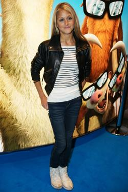 "Nikki Grahame at the London premiere of ""Ice Age: Dawn of the Dinosaurs 3D."""