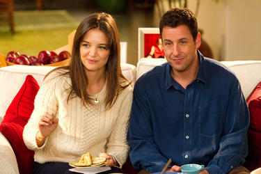 "Katie Holmes as Erin and Adam Sandler as Jack in ""Jack and Jill."""