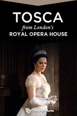 "Poster art for ""Tosca - Royal Opera House."""