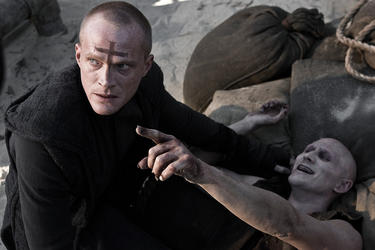 "Paul Bettany and Josh Winget in ""Priest."""