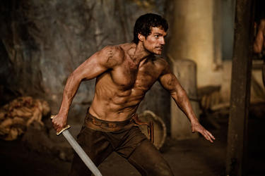 "Henry Cavill as Theseus in ""Immortals."""