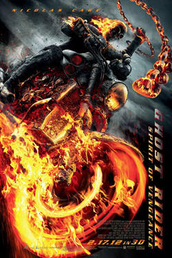 "Poster art for ""Ghost Rider: Spirit of Vengeance."""